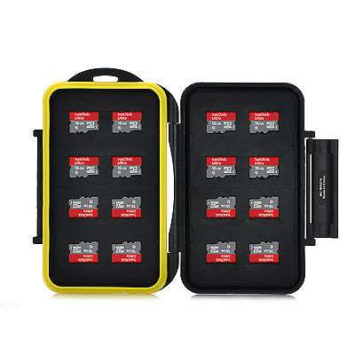 16 x MicroSD HC Water Resistant Seal High Quality Mass Storage Memory Card Case