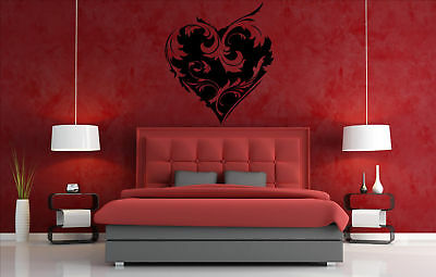 Ornamental Heart Wall Stickers Decal Decor. High Quality 40cm x 46cm Large NEW