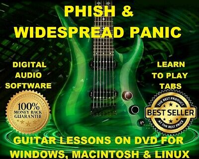 Phish 211 & Widespread Panic 92 Guitar Tabs Software Lesson CD 5 Backing Tracks