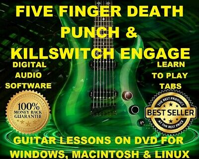 Five Finger Death Punch 134 & Killswitch Engage 146 Guitar Tabs Lesson CD 32 BT