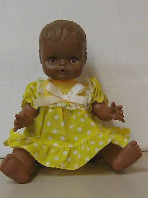 Vintage Horsman African American Baby Doll Plastic From The 70s Good Condition