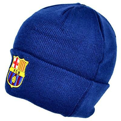 F.C Barcelona Navy Cuff Knitted Hat