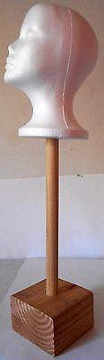 Native American War Bonnet Headdress Stand Table mount with head 25 x 8 x 5 inch