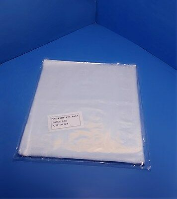 """100-1000 13x14"""" Clear Poly Bags 1-Mil Lay-Flat Open Top End Plastic Baggies 1ml"""