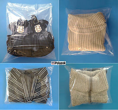 """10x12"""" Clear LDPE Open-top 1Mil) Poly Bags Lay-flat Packaging Plastic Baggies"""