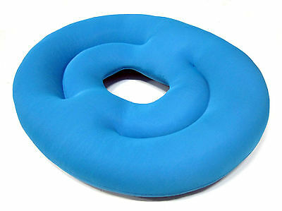 Soft Double Ring Beads Cushion Pregnancy Comfort Cushion Hemorrhoid Relief Blue