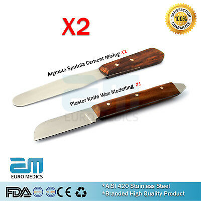 Plaster Alginate Deal Of Plaster Knife And Spatula Wax And Modelling Set X2 Ss