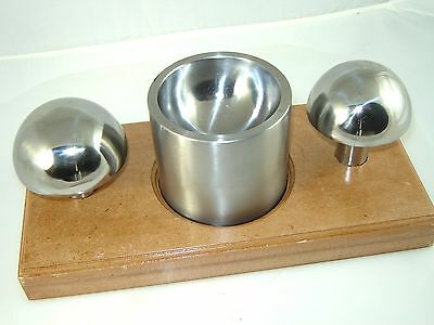 "Cupola Punch and Die Set 3"" & 3 1/4"" Punch & Double Sided Matching Die & Stand"