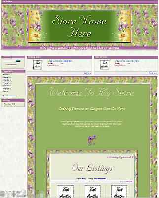 Spring Iris & Lily Full Ebay Store Front Package