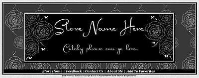 Rose & Butterfly Boutique Store Front Header Package