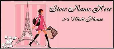 Shopping In Paris Store Front Header PACKAGE Design