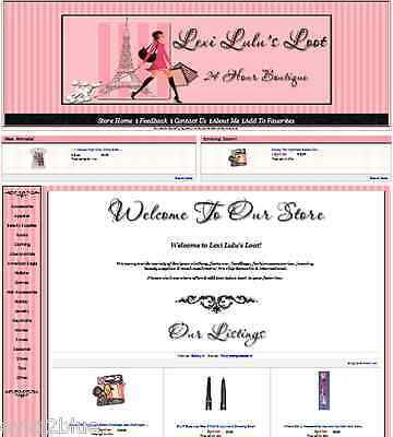 Shopping In Paris Full eBay Store Front PACKAGE Design