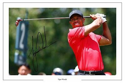 Tiger Woods Open Golf Autograph Signed Photo Print Poster