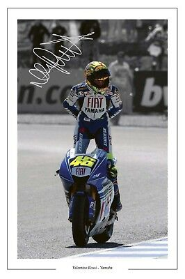 Valentino Rossi Yamaha Signed Photo Print Autograph