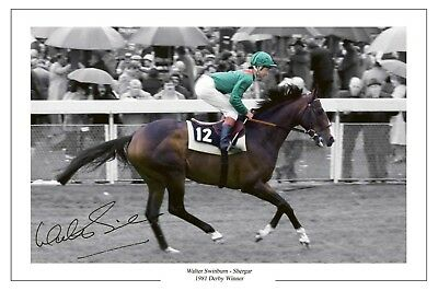 Walter Swinburn Shergar 1981 Derby Signed Photo Print