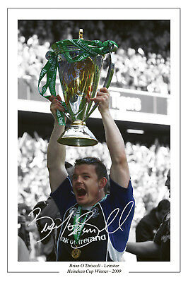 Brian O'driscoll Rugby Leinster Cup Signed Photo Print