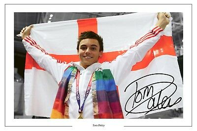 Tom Daley Diving World Champion Signed Photo Print