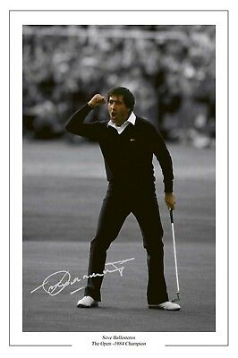 Seve Ballesteros '84 Open Autograph Signed Photo Print