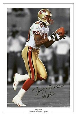 Jerry Rice San Francisco 49Ers Signed Photo Print