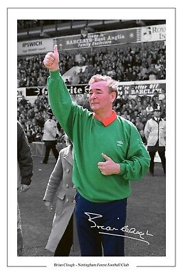 Brian Clough Nottingham Forest Photo Print Signed
