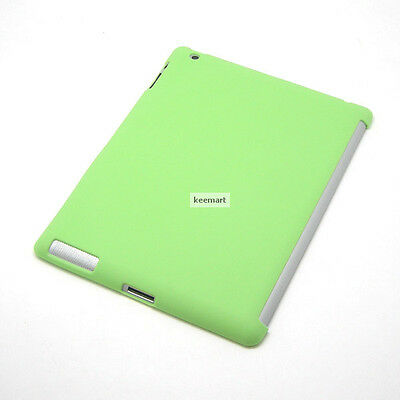 GREEN New iPad 3 4th Gen TPU Gel companion mate Case WORK with Apple Smart Cover
