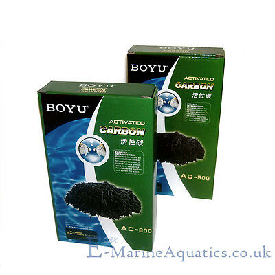 BOYU ACTIVATED CARBON for AQUARIUM FILTER / REACTOR /  MEDIA BAG (300 OR 500g)
