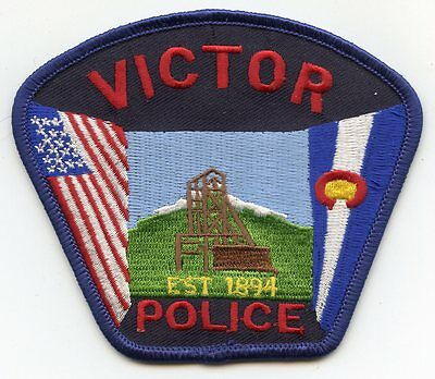 new style VICTOR COLORADO CO POLICE PATCH
