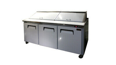 """72"""" New Cooltech 3-Door Commercial Refrigerated Sandwich Prep Table Restaurant"""