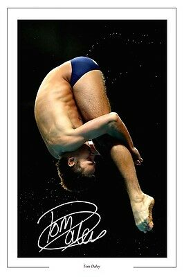 Tom Daley Diving World Champion Autograph Signed Photo Print