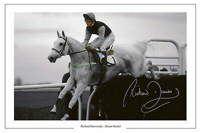 Richard Dunwoody Desert Orchid Signed Photo Print