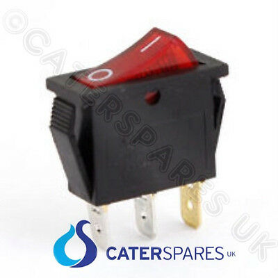 10Amp Red Rocker Switch Power On/off Single Pole 3 Pin 30X11Mm 240V Part Csuk