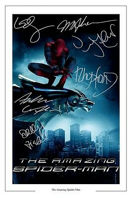 The Amazing Spider Man Cast X 6 Signed Photo Print Autograph Poster