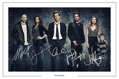 Kevin Bacon James Purefoy The Following SIGNED AUTOGRAPH FRAMED 10x8 REPRO PRINT