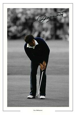 Seve Ballesteros '84 Open Golf Autograph Signed Photo Print