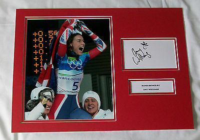 Amy Williams Olympics Gold Skeleton Hand Signed Autograph Photo Mount
