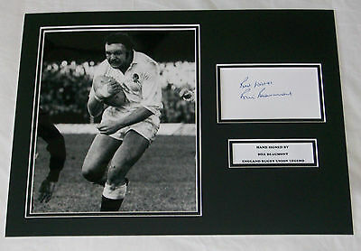 Bill Beaumont England Rugby  Hand Signed Autograph Photo Mount