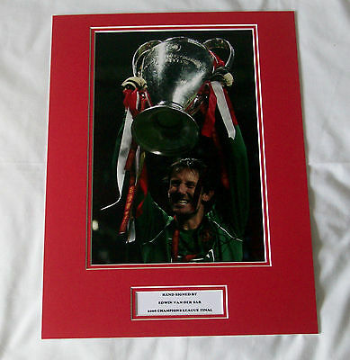 Edwin Van Der Sar Manchester United Hand Signed Autograph Photo Mount