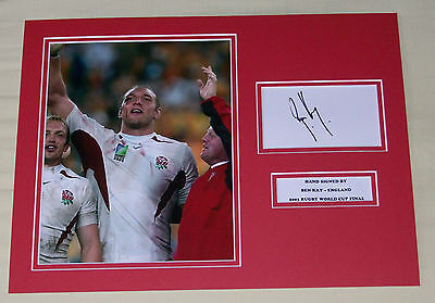 Ben Kay England Rugby World Cup Hand Signed Autograph Photo Mount