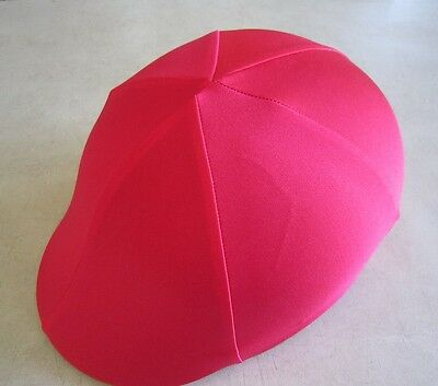 Horse Helmet Cover ALL AUSTRALIAN MADE All red lycra Any size you need
