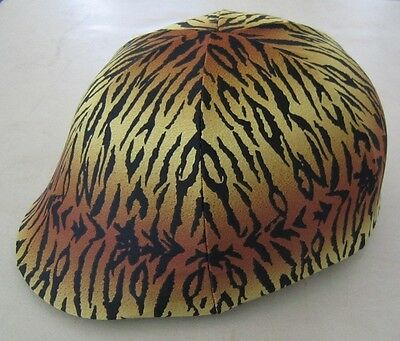Horse Helmet Cover ALL AUSTRALIAN MADE Tiger print Any size you need