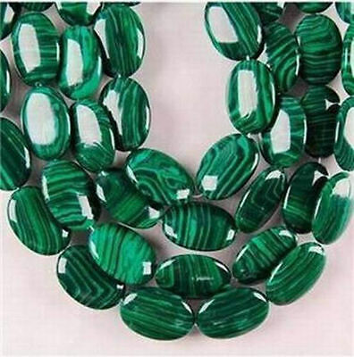 13X18mm Green Malachite Oval Turquoise Gemstone Loose Beads 15""