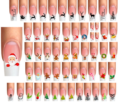 Wraps Nail Art Tattoos Weihnachten Winter Christmas Weihnachtsmann Rentier Elch