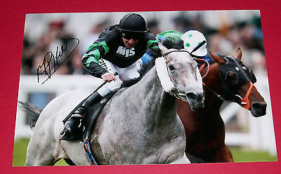 Michael Hills Horse Racing Hand Signed Autograph 12X8 Photo