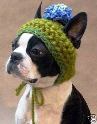 Special and unique hat warms your trendy chic Boston Terrier dog Handmade wool