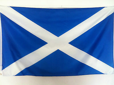Scotland St Andrew Scottish Flag Saltire Blue 5ft x 3ft Great Quality Polyester