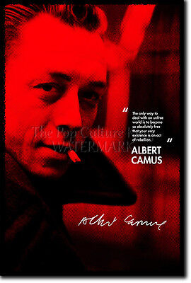 Albert Camus Art Print Photo Poster Gift Quote Absurdism