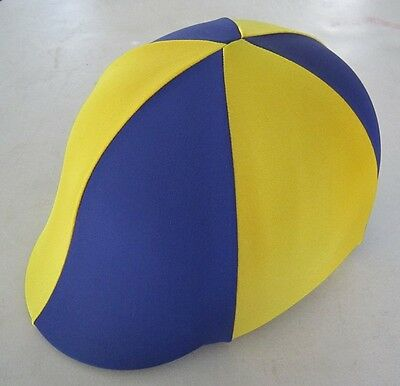 Horse Helmet Cover ALL AUSTRALIAN MADE Navy and yellow gold Any size you need