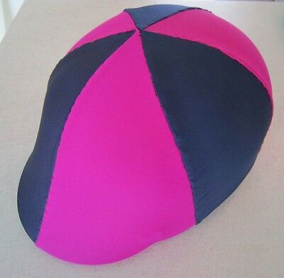 Horse Helmet Cover ALL AUSTRALIAN MADE Hot pink & Navy Any size you need