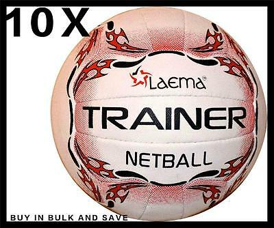 10X Top Match Quality NETBALL Dura Pin Grip Natural Rubber Ball-TRAINER -Size 5
