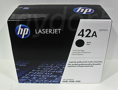 HP 42A Original Laserjet 4240 4250 4350 Toner Cartridge Q5942A - VAT INCL